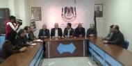 وفد قيادي من حركة فتح في زيارة لمقر نقابة الصحفيين الفلسطينين في غزة