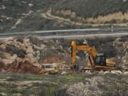 الاحتلال يجرف أراضي وينصب بيوتا متنقلة جنوب نابلس