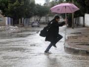 أمطار مصحوبة بعواصف رعدية وتساقط البرد
