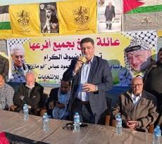مهرجان مبايعة عائلة بربخ لحركة فتح والرئيس محمود عباس
